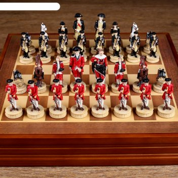 Шахматы сувенирные гражданские войны (доска 36х36х6 см, король h=8 см, пеш