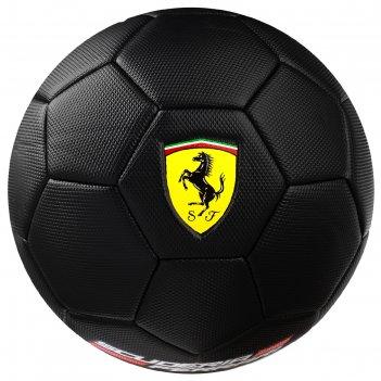 Мяч футбольный ferrari р.5, pvc, цвет черный