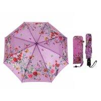 Зонт полуавтоматический «нежность», 3 сложения, 8 спиц, r = 50 см