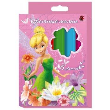 Мелки цветные 6 цв., disney феи