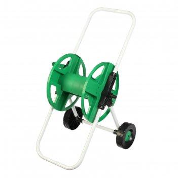 Катушка для шланга ( до 40 метров) на колёсах, металл, pvc-пластик