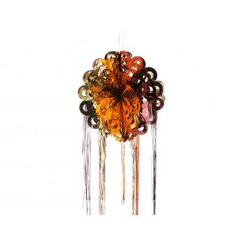 Декоративное изделие подвес шар с дождем 40 см.