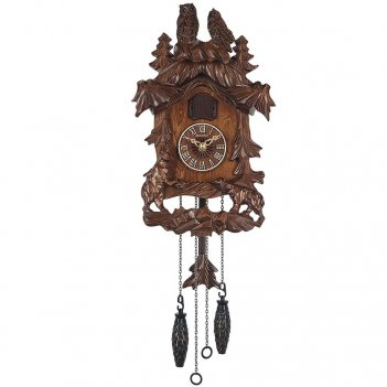 """Настенные часы с кукушкой columbus cq-080 """"сова"""""""