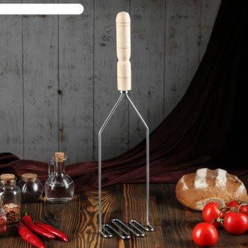 Толкушка с деревянной ручкой змейка, 49 см