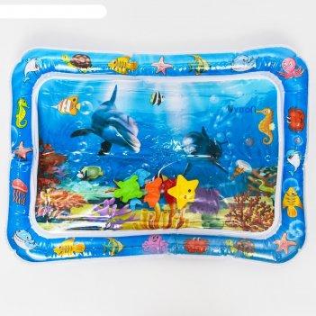 Коврик надувной для малышей «ocean» 65х48х8см