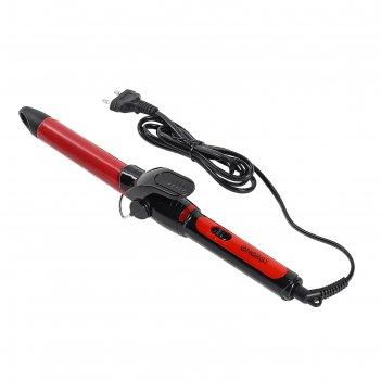 Плойка energy en-869, 25 вт, d=25 мм, керамическое покрытие, черно-красная
