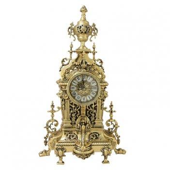 Часы   ahs  каминные бронзовые