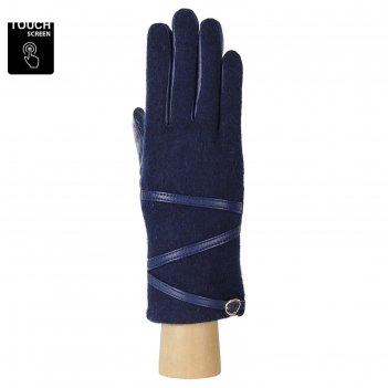 Перчатки женские, размер 8, цвет синий