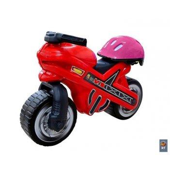 46765 каталка-мотоцикл moto  mx со шлемом