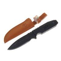 Нож перочинный в чехле под кожу рукоять металл плетение 2,5х0,8х16 см