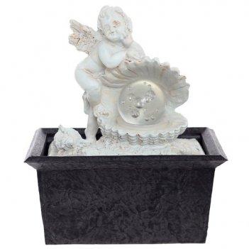 Фонтан ангел со светодиодной подсветкой, l15,8 w11,8 h18 с...
