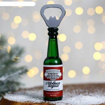 Открывашка-магнит «яркого праздника», в форме бутылки