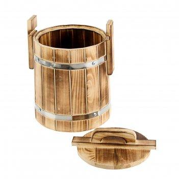 Кадка с плотной крышкой 5л термо липа добрая баня