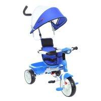 Велосипед трехколесный micio uno plus, колеса eva 10/8, фара, цвет: синий
