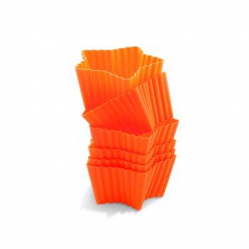 Набор силиконовых форм для маффинов, 6 шт., разм. 7х6,6 см,