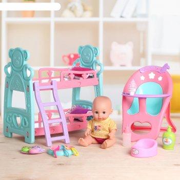Мебель для пупсов, пупс, кроватка, стульчик, аксессуары микс