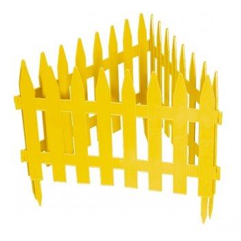 Забор декоративный рейка 28 x 300 см, желтый россия palisad