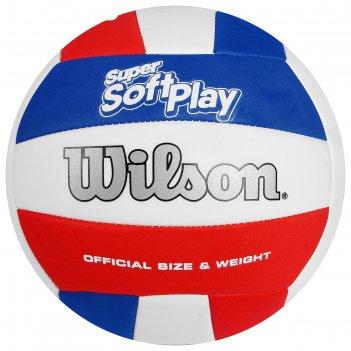 Мяч волейбольный wilson super soft play арт. wth90219xb, р.5, синт.кожа, м