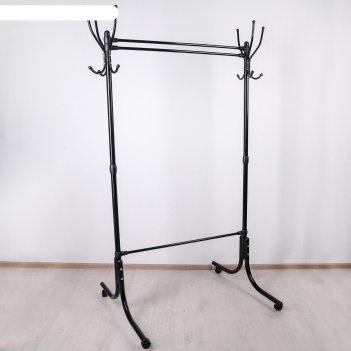 Вешалка гардеробная 116x76,5x174 см, цвет чёрный