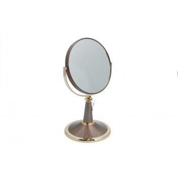Зеркало* b6209 brz/g bronze&gold настольное 2-стор. 5-кр.ув