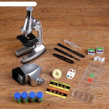 Микроскоп сувенирный, детский, х50-1200, проектор, с подсветкой, 2аа(не в