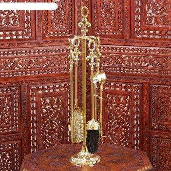 Каминный набор латунь королевский (4 предмета) 57,5х13х13 см