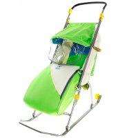 Санки-коляска тимка люкс, цвет зеленый