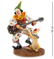 Ws-676 статуэтка клоун с гитарой