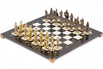 шахматы русские бронза мрамор 400х400 мм