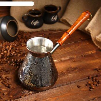 Турка  для кофе медная 0,75  л «русский дух»