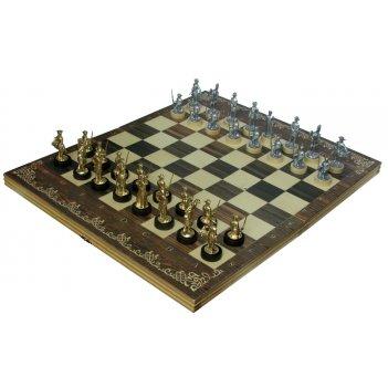Шахматы исторические полтава с фигурами из покрашенного цинкового сплава