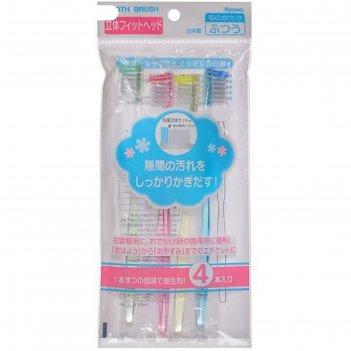 Набор зубных щеток kyowa, 4 шт.