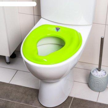 Сиденье на унитаз, цвет зеленый