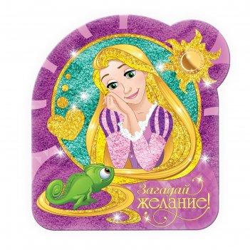 Фреска песком (9 цветов) и блёстками загадай желание, принцессы: рапунцель