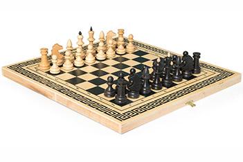 Шахматы смешанные бук малые (38х18х4,2см) россия