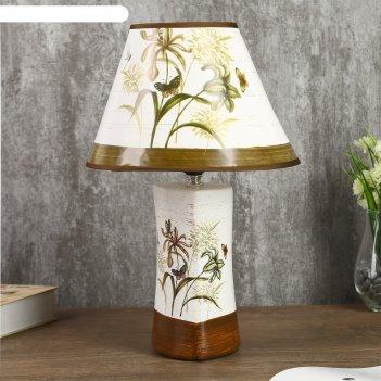 Лампа настольная полевые цветы е14 25w 220в 36,5х25х25 см