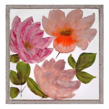 Панно цветы (сетка), l80 w2,5 h80 см