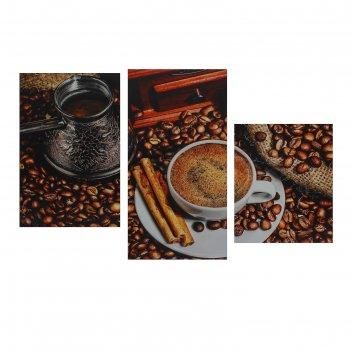 Модульная картина на подрамнике кофе с корицей