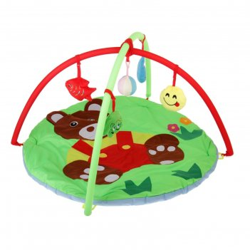 Коврик развивающий с дугами «мишутка», 5 игрушек
