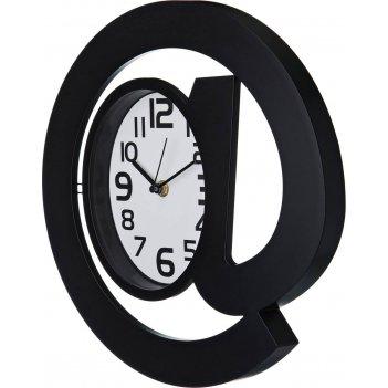 Часы настенные кварцевые собачка диаметр=30 см. цвет: черный циферблат 17*