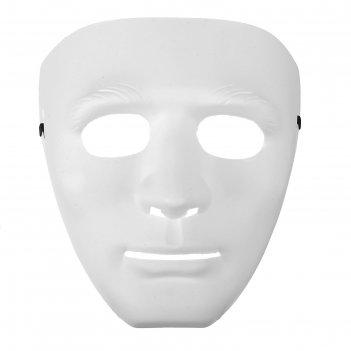 Маска лицо, цвет белый