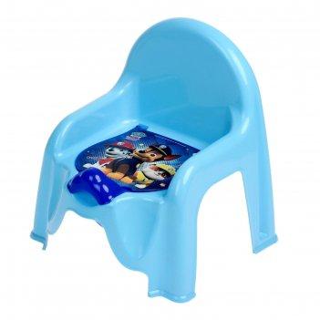 Горшок-стульчик «щенячий патруль» с крышкой, для мальчика, цвет голубой