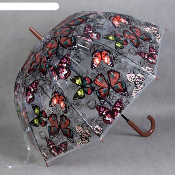 Зонт полуавтоматический «пизанская башня», 8 спиц, r = 40 см, цвет чёрный/