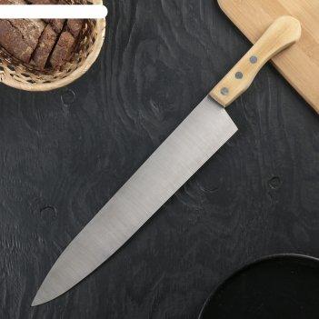 Нож поварской для мяса, длина 45,5 см. режущая часть 33 см