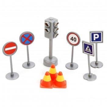 Набор светофор + дорожные знаки sb-17-21-blc
