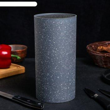 Подставка под ножи с наполнителем «серый гранит», 11x11x22 см