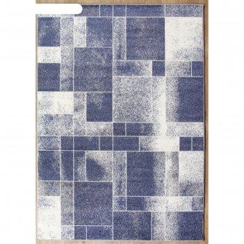 Прямоугольный ковёр sunrise 2 d447, 200x400 см, цвет gray-blue