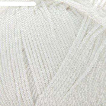 Пряжа diva 100% микрофибра 350м/100гр (55 белый)
