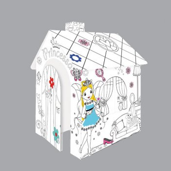 11122 игровой картонный домик-раскраска принцесса, moсhtoys