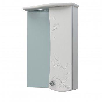 Шкаф-зеркало бабочка 60с белый